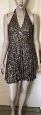 Silk And Sequinned Cocktail Dress By Scala Size 2 (sz6-8) Fully Lined