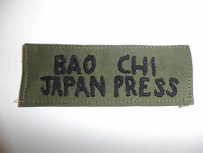 c0065 Vietnam Bao Chi Japan Press News tape Newspaper local Fatigues OD R10C