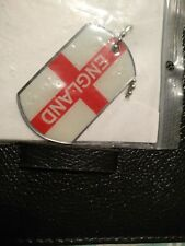 England Necklace, stainless steel, enameled,
