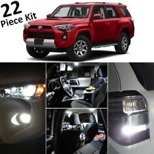 White LED Interior & Exterior Lights kit 2010-2018 2019 Toyota 4Runner+Tool T43F