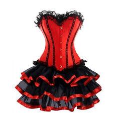 Burlesque Corset Tutu Fancy Dress Costume Red Plus Size 6-26