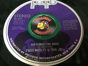 Fred Wesley & The JB's Watermelon Man Alone Again Funk 45 Vinyl Piranha Records