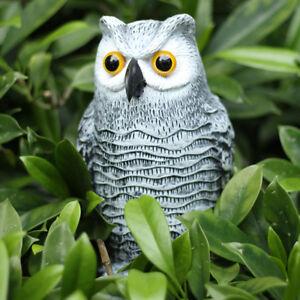 2pcs Vivid Owl Bird Hunting Decoy Deterrent Repeller Garden Weed Pest Scarer