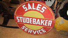 Rare Vintage Studebaker Porcelain Double Sided Sign,  It's Not a Reproduction