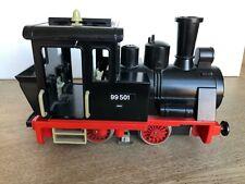 More details for vintage playmobil 1980 geobra black steam train no. 99132 for g scale lgb tracks