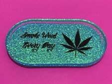 Glitter Stoner Weed Leaf Rolling Tray
