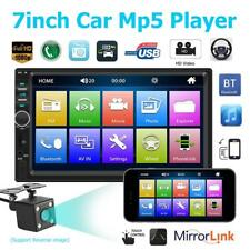 "7"" 2DIN Car Radio MP5 Player 1080P Rear View Camera Android iPhone Mirror Link"