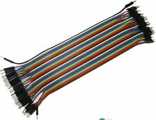40PCS Dupont wire jumper cables 20cm 2.54MM male to male 1P-1P For Arduino