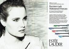 Publicité Advertising 078  1988   maquillage mascara Estèe Lauder (2 pages)