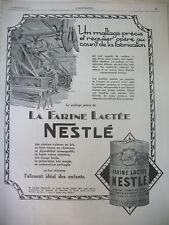 PUBLICITE DE PRESSE NESTLE MALTAGE PRECIS ET REGULIER FRENCH AD 1927