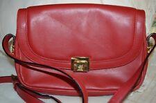 "Mark Cross Red Clutch Shoulder 9 1/2"" Handbag made in Italy"