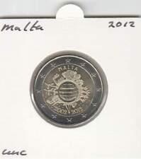 Malta 2 euro 2012 UNC : 10 Jaar Euro munt