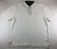 VINTAGE Tommy Hilfiger White Polo Shirt Mens Size XLarge Flag Logo Short Sleeve
