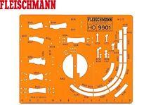 FLEISCHMANN H0 9901 H0 modell-gleis Stencil 1:10 NUOVO + conf. orig.
