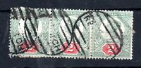 GB QV 1887 2d Jubilee used strip of 3 WS12872