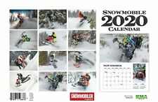 2020 SNOWMOBILE DELUXE WALL CALENDAR sled necks cover helmet