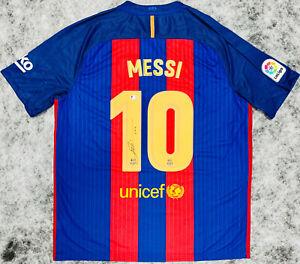 Barcelona Lionel Messi Signed Soccer Jersey Auto Beckett BAS COA