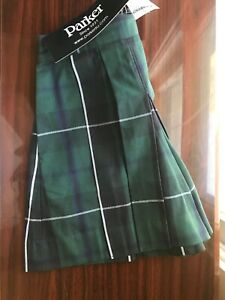Parker Uniform Shorts Size 4T Navy and Forest Green Plaid