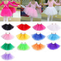 Enfants Filles Princesse Jupe Tutu Jupon Danse Ballet Robe Costume Déguisement
