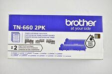 Brother Genuine TN660 2-Pack High Yield Black Toner Cartridge HL-L2300D/L2305W