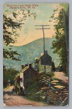 High Street & Public Walk Harpers Ferry Rare Antique West Virginia Pc 1910s