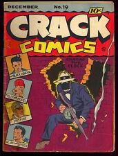 Crack Comics #19 Unrestored Golden Age Superhero Quality 1941 FR
