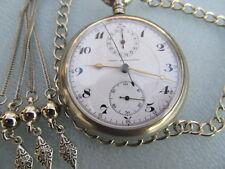 Chronograph reloj de bolsillo cronómetro reloj Unión horlogere pocket watch rare raras