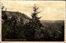 Kulmberg bei Saalfeld Thüringen s/w AK ~1940 gelaufen mit Kulmhaus und Dorf Kulm