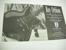 Roy Orbison 3 Halls Of Fame inductions Original 1989 music biz promo trade advt