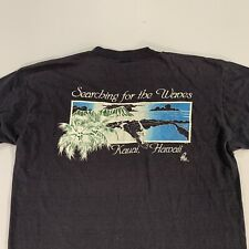 Vtg 70s 80s Searching For The Waves Kauai Hawaii Poly Tees Single Stitch Xl L M
