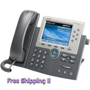 NEW!! Cisco CP-7965G IP PoE Colour Screen Office Phone 68-3610-03