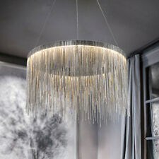 Modern simple LED iron chain waterfall tassel chandelier can be Customized