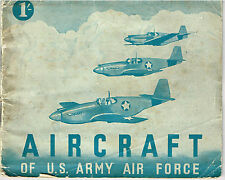 AIRCRAFT ID WWII BOOKLET DOWNLOAD: AIRCRAFT OF THE U.S. ARMY AIR FORCE