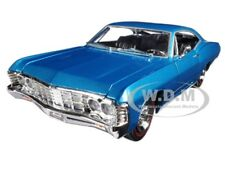 "Box Dented 1967 CHEVROLET IMPALA BLUE ""SHOWROOM FLOOR"" 1/24 DIECAST JADA 98911"