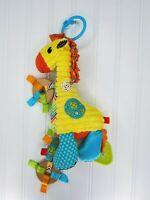 Infantino Go Gaga Playtime Pal Giraffe Plush Teether Developmental Toy Hanger