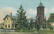 LACONIA NH – French Catholic Church and Priests Residence