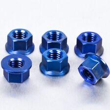 Pro-Bolt Titanium Sprocket Nut M8 x (1.25mm) Pack x 6 - Blue Yamaha YZF-R125 08+
