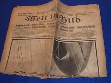 1916 journal ancien HAMBURG welt in bild Fesselballon GERMAN soldaten WW1 fotos