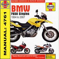 BMW F650ST Strada F650GS Dakar F650CS Haynes Manual 4761 NEW