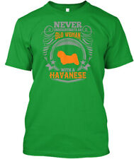 Old Woman With A Havanese T S Premium Tee T-Shirt