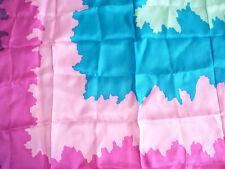 "Vintage Scarf De Mura Japan DeMura Silk Rayon Fuschia Purple Teal 27"" square  #D"