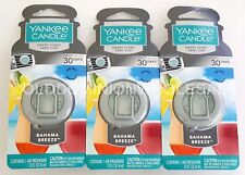 Lot of 3 Yankee Candle Bahama Breeze Smart Scent Vent Clip Car Air Freshener AC