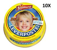 10x100g Leverpostei made in Norway Liver Pate for Kids and Family Breakfast
