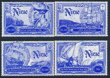 1999 NIUE HISTORY OF SEAFARERS SET OF 4 FINE MINT MNH