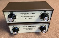 2 Vintage Realistic 3 Way horn tweeter woofer speaker Crossovers Cat No. 40-1339