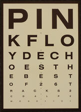 PINK FLOYD POSTER PAGE . 2001 ECHOES LP ALBUM OPTICIANS EYE TEST POSTER ART .M85