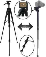 "68"" Convertible Tripod - Monopod Combo With Case For Nikon Coolpix L840 P900"