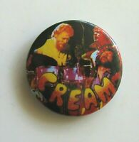 CREAM OLD METAL BUTTON BADGE FROM THE 1980's NEW OLD STOCK CLAPTON BAKER BRUCE