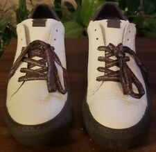 EARTH Melrose Mens Size 45/US 11.5 Off White Coffee Antimicrobial Casual  Shoes