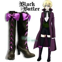 Black Butler II 2 Alois Trancy Anime Cosplay Costume Shoes Boots